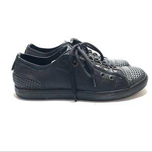 Neil Barrett black leather studded sneakers Sz 9